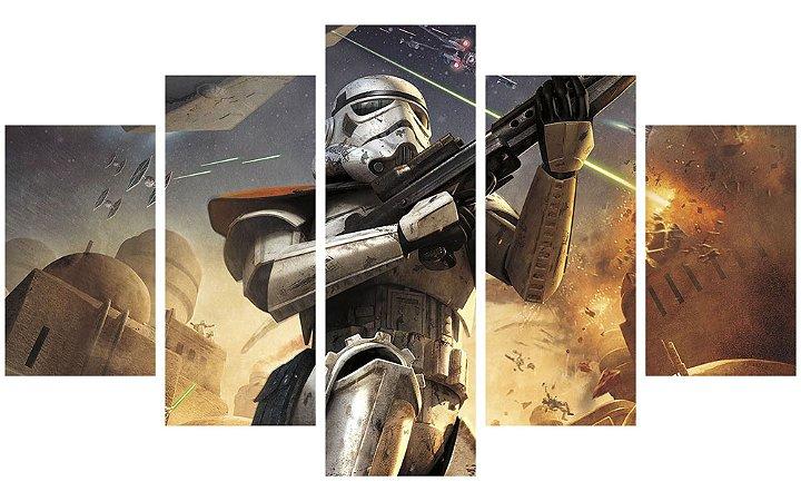 Painel Mosaico Decorativo em 5 partes - Star Wars Soldado Clone