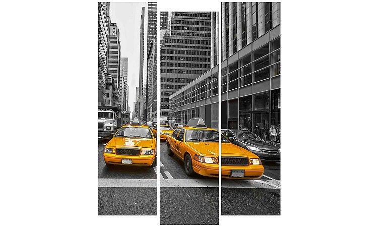 Painel Mosaico Decorativo em 3 partes - Táxis