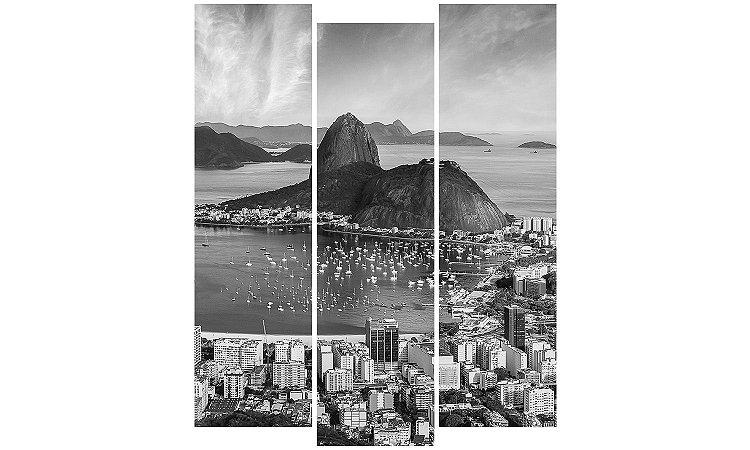 Painel Mosaico Decorativo em 3 partes - Rio