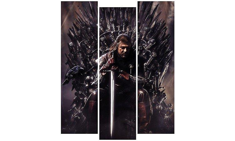 Painel Mosaico Decorativo em 3 partes - Game of Thrones