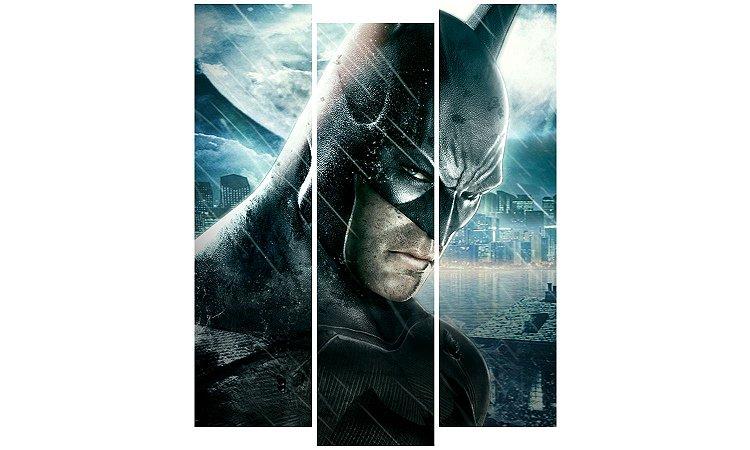 Painel Mosaico Decorativo em 3 partes - Batman