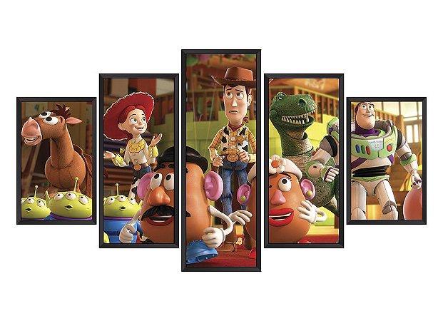 Quadro Mosaico Toy Story em 5 partes