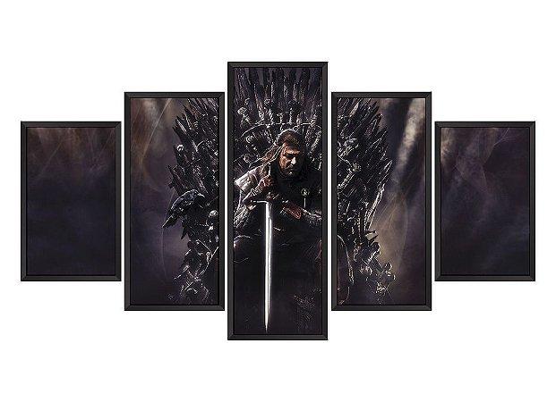 Quadro Mosaico Game Of Thrones em 5 partes