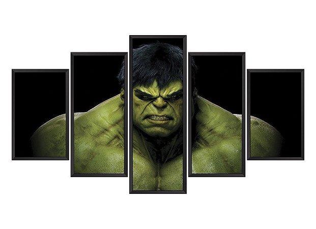 Quadro Mosaico Hulk em 5 partes