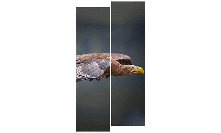 Painel Mosaico Decorativo em 2 partes - Águia Voando