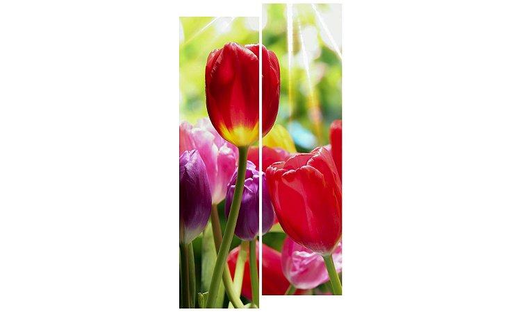 Painel Mosaico Decorativo em 2 partes - Flores