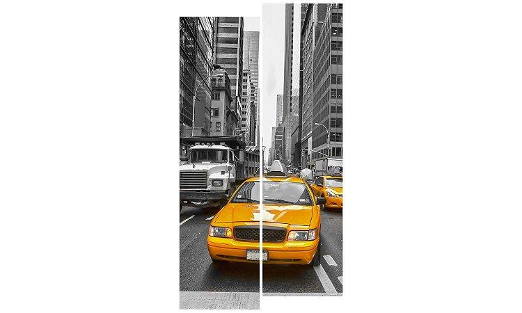 Painel Mosaico Decorativo em 2 partes - Táxis