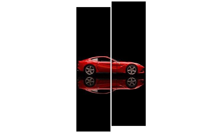 Painel Mosaico Decorativo em 2 partes - Ferrari