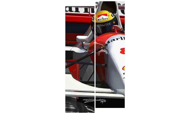 Painel Mosaico Decorativo em 2 partes - Airton Senna