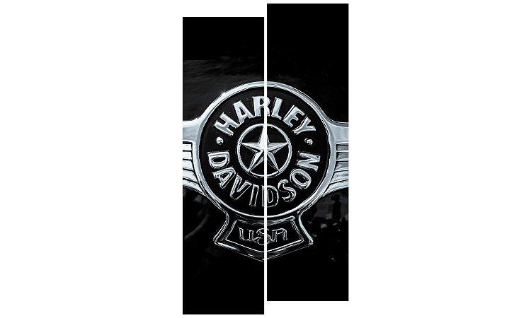 Painel Mosaico Decorativo em 2 partes - Harley Davidson