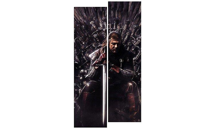 Painel Mosaico Decorativo em 2 partes - Game of Thrones