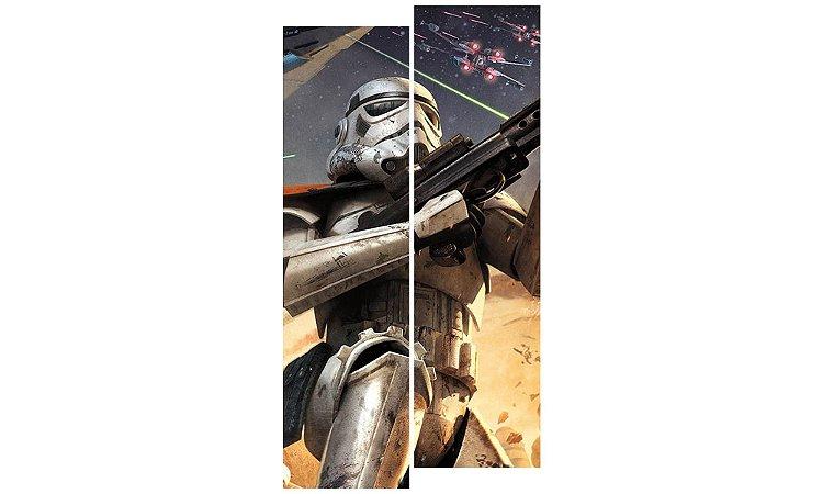 Painel Mosaico Decorativo em 2 partes - Star Wars Soldado Clone