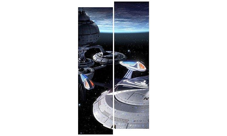 Painel Mosaico Decorativo em 2 partes - Naves Espaciais