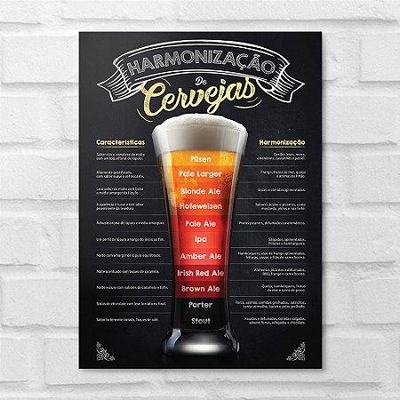 Placa Decorativa - Harmonização da Cerveja