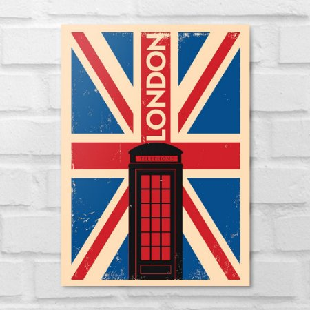 Placa Decorativa - Londres Minimalista
