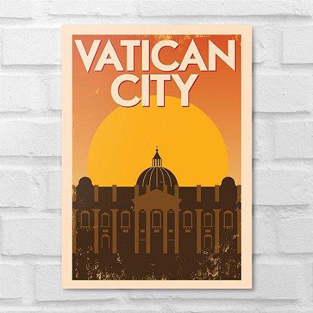 Placa Decorativa - Vaticano Minimalista