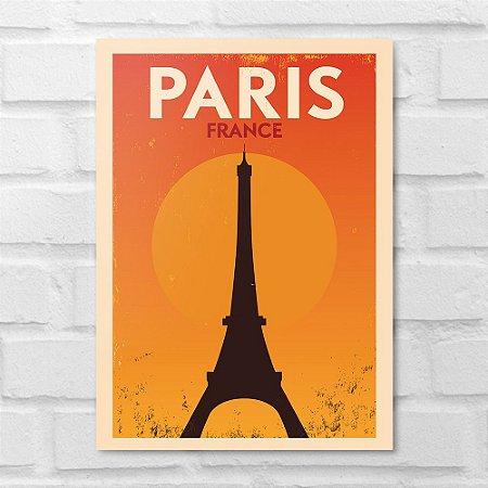 Placa Decorativa - Paris Minimalista
