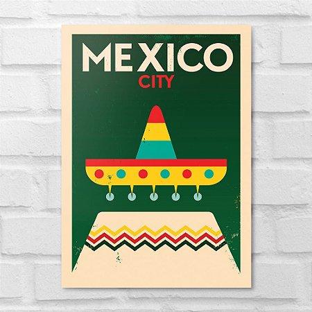Placa Decorativa - México Minimalista