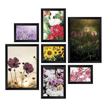 Kit de Quadros Decorativos 7 peças Flores