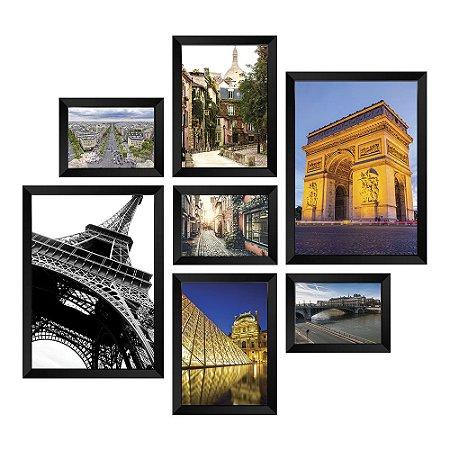 Kit de Quadros Decorativos 7 peças Paris