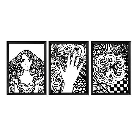 Kit de Quadros Decorativos 3 peças Delicate