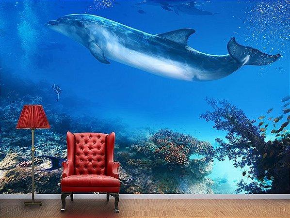 Papel de Parede Fotográfico - Golfinhos - PA007