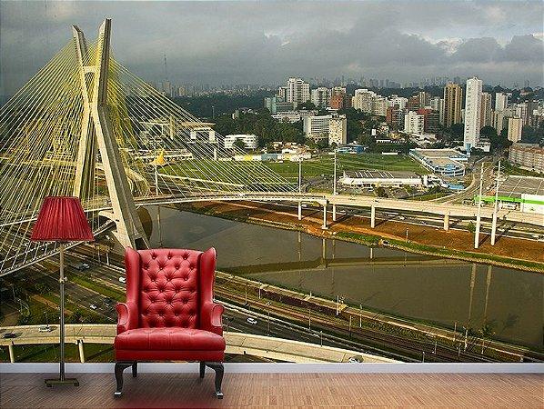 Painel Parede Fotográfico Ponte Estaiada São Paulo