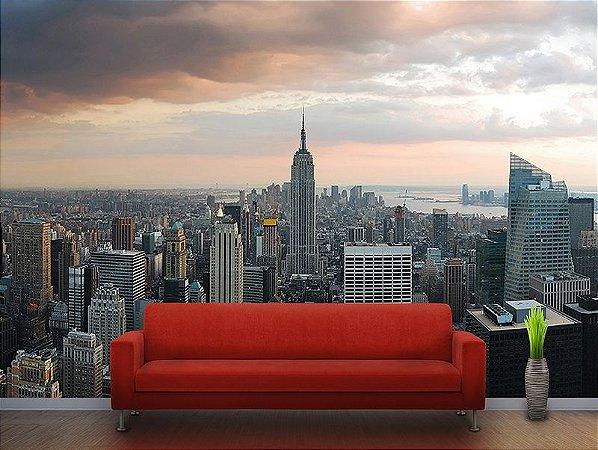 Papel de Parede Fotográfico - Vista de Manhattan New York - PA 024