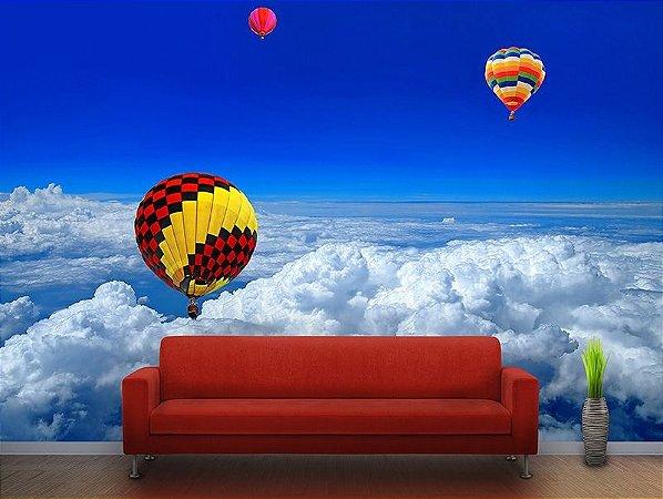Painel Parede Fotográfico Balões sobre as Nuvens