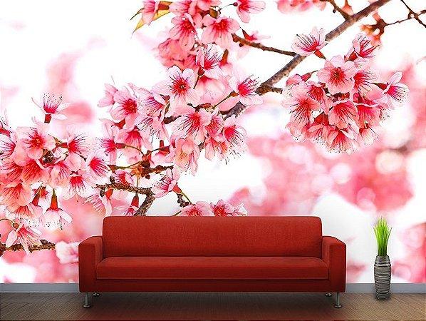 Papel de Parede Fotográfico - Galho com flores - PA068