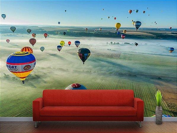 Painel Parede Fotográfico Balões Chambley França