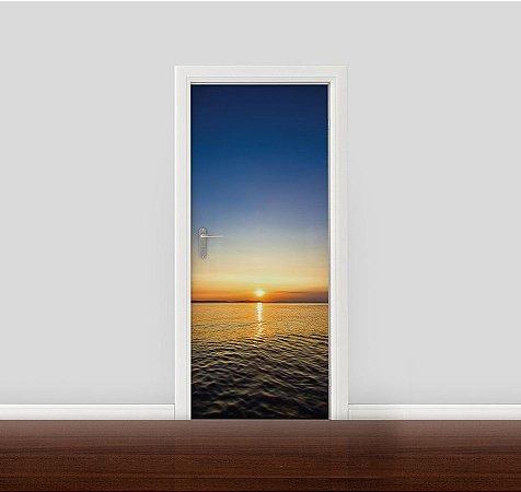 Adesivo para Porta - Pôr do Sol no Oceano