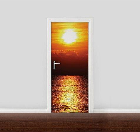 Adesivo para Porta - Reflexo do Sol no Oceano