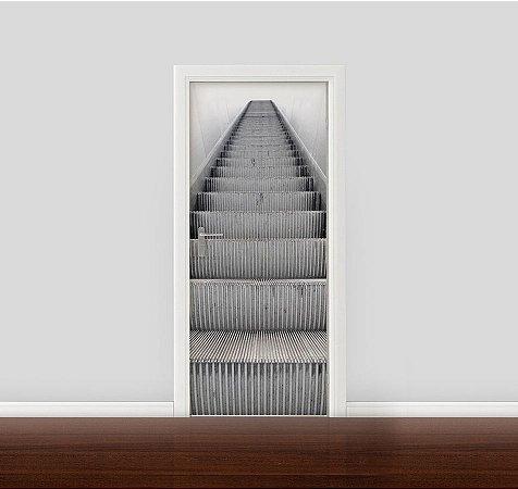 Adesivo para Porta - Escada rolante 01