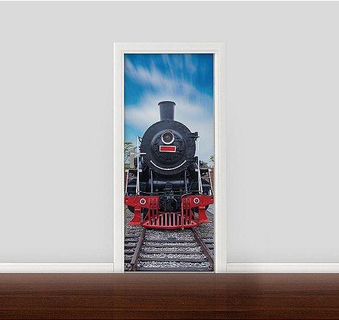 Adesivo para Porta - Trem antigo