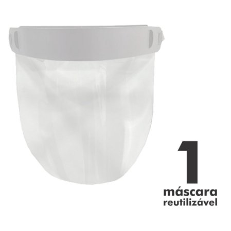 Máscara Facial Protetora - 1 unidade - Reutilizável