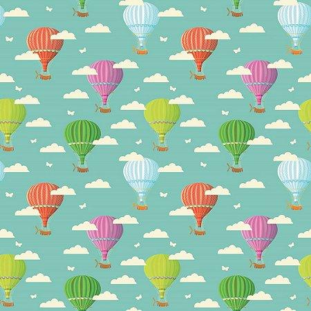 Papel de Parede Adesivo Infantil Balões Color
