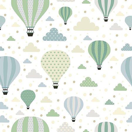 Papel de Parede Adesivo Infantil Balloons