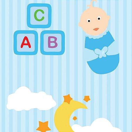 Papel de Parede Adesivo Infantil ABC