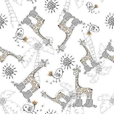 Papel de Parede Adesivo Infantil Girafinha