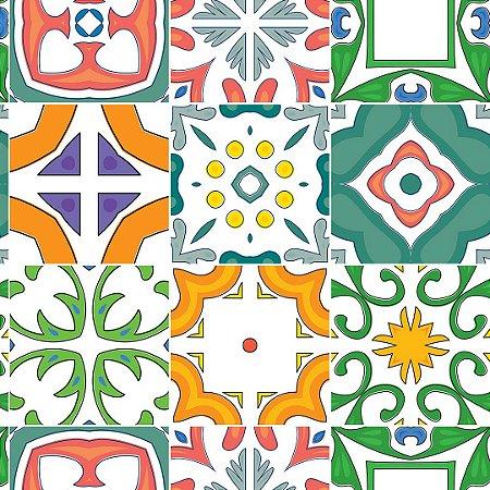 Papel de Parede Adesivo Azulejo Évora
