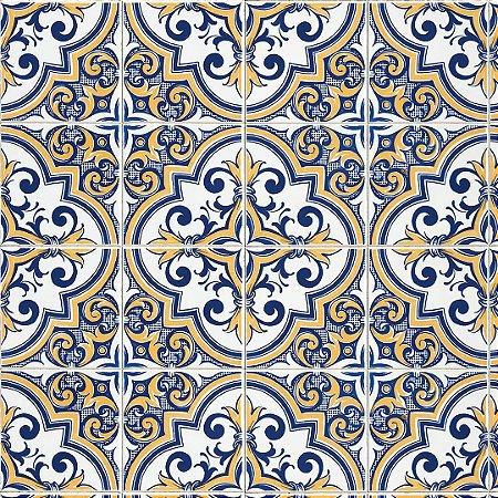 Papel de Parede Adesivo Azulejo Toledo