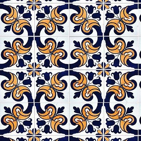 Papel de Parede Adesivo Azulejo Esgrafitado