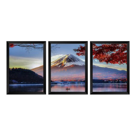 Kit de 3 Quadros Monte Fuji