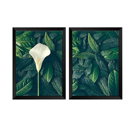 Kit de 2 Quadros Decorativos Tulipa Festiva