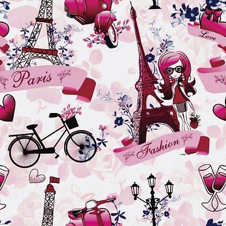 Papel de Parede Adesivo Casual Explosão Paris Fashion