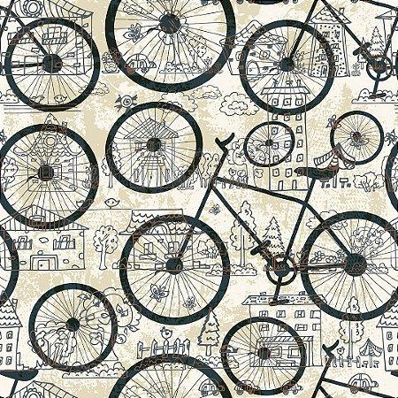 Papel de Parede Adesivo Casual Bicicleta