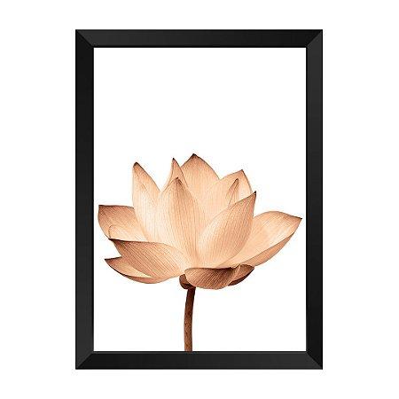 Quadro Flor Rose Gold Encanto
