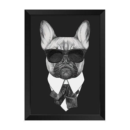 Quadro Dog de Preto Agente J