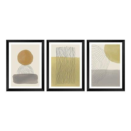 Kit de 3 Quadros Decorativos Sand